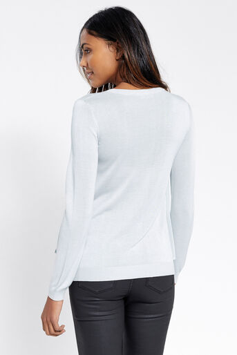 Oasis, Chiffon wrap top Pale Grey 3