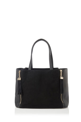 Oasis, SUEDE DETAIL SHOPPER Black 0