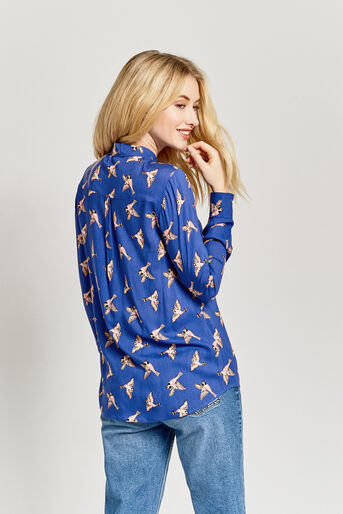 Oasis, COUNTRY BIRD SHIRT Multi Blue 3