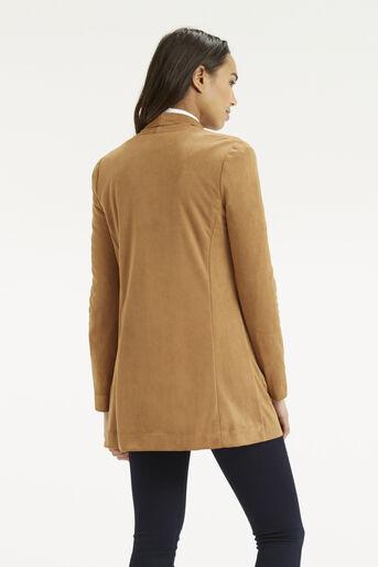 Oasis, Suedette Drape Jacket Tan 3