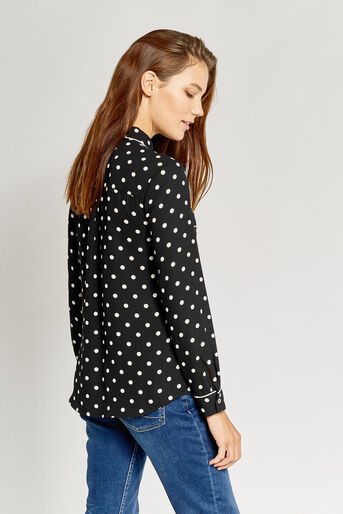 Oasis, SPOTTED SHIRT Black 3