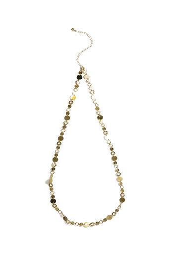 Oasis, Collier en corde avec anneaux et maillons Doré 0