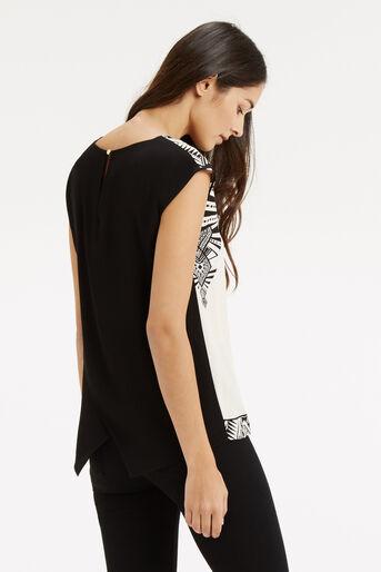 Oasis, Deco Wrap Back T-Shirt Multi Natural 3