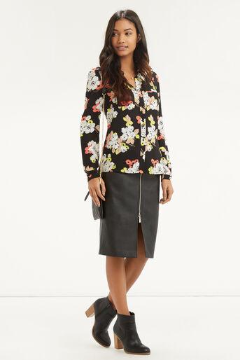 Oasis, Edie Floral Shirt Multi Black 2