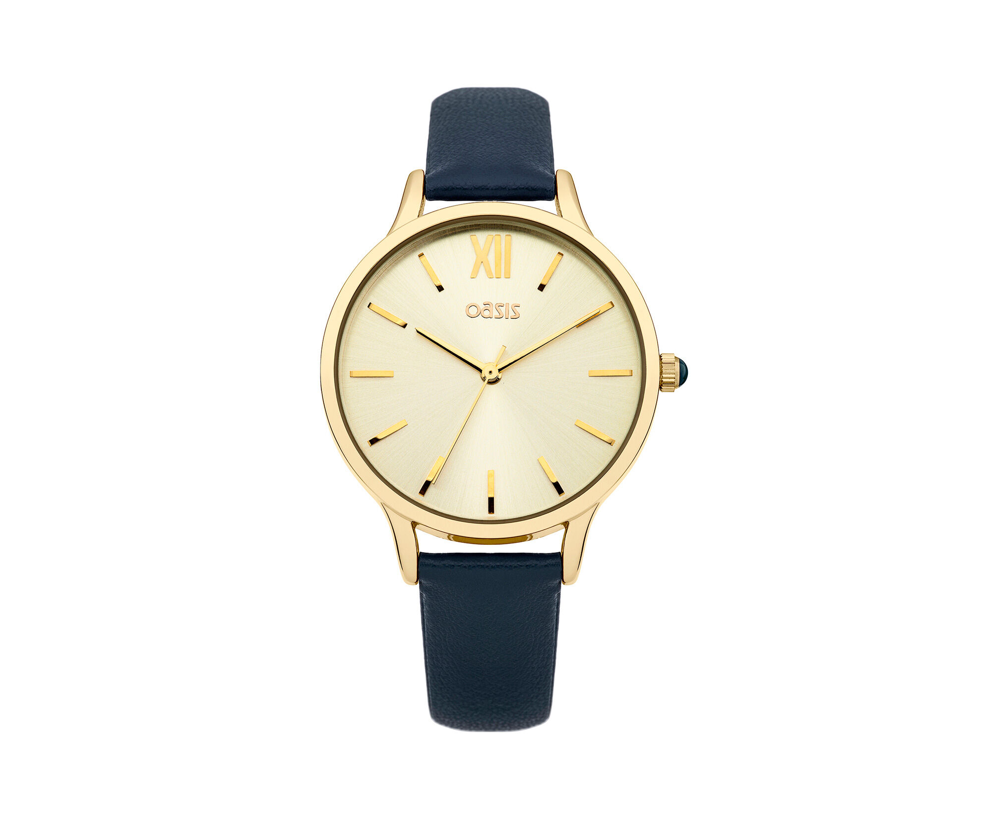 Oasis, Blue Strap Watch Gold Dial Rich Blue 0