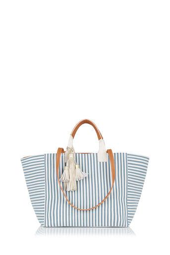 Oasis, Canvas Stripe Shopper Multi Blue 0