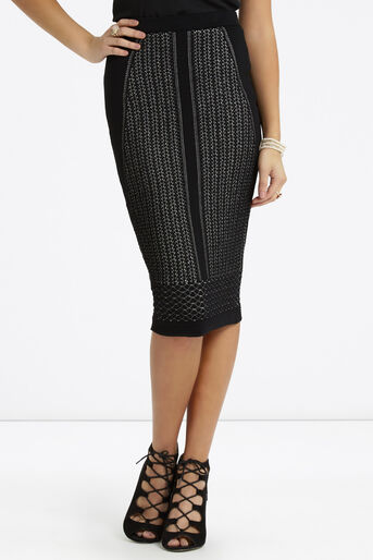 Oasis, Lace Compact Skirt Black 1
