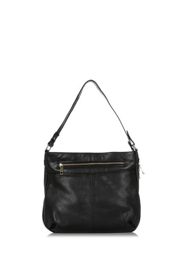 Oasis, LEATHER HOBO BAG Black 0