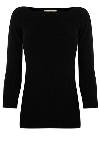 Oasis, The Textured Knit Black 0