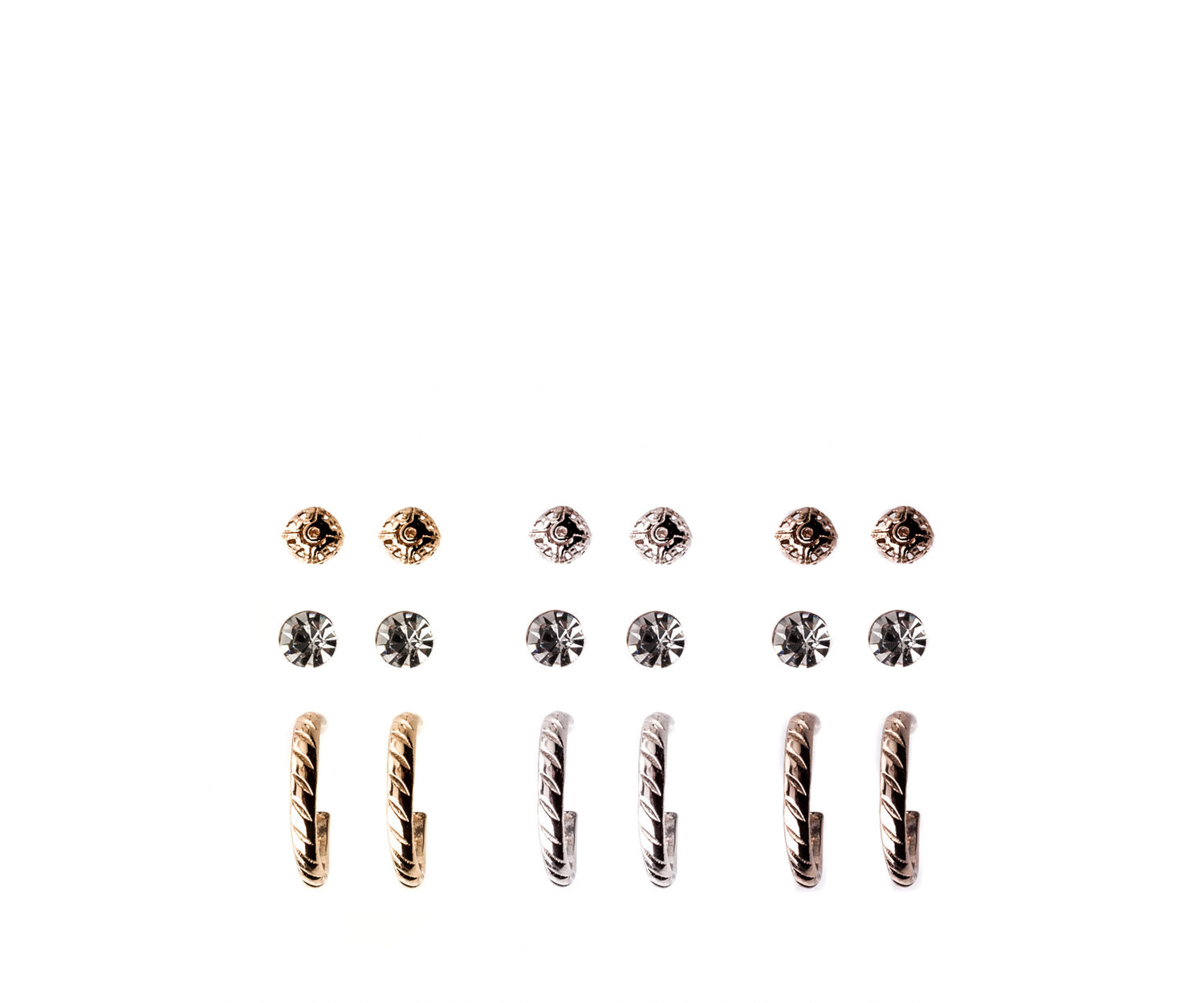 Oasis, 9 PACK EARRING SET Multi Gold 1