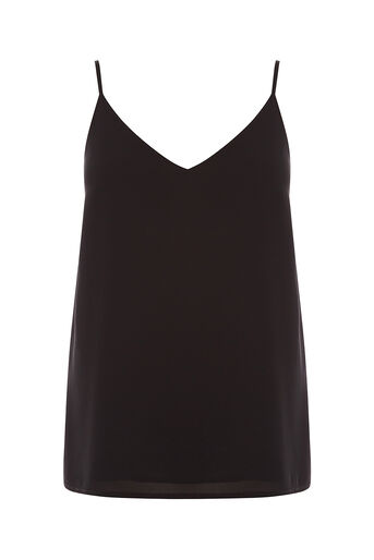 Oasis, V Neck Cami Black 0