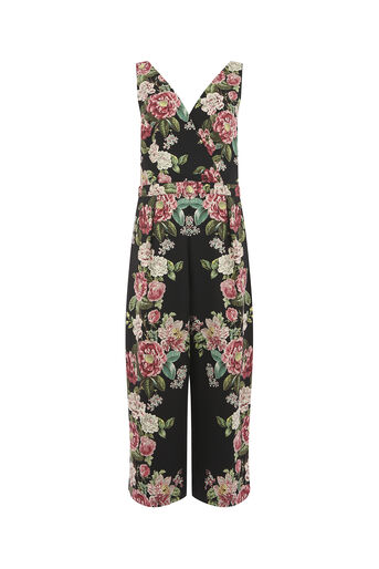 Oasis, ROYAL WORCESTER JUMPSUIT Black 0