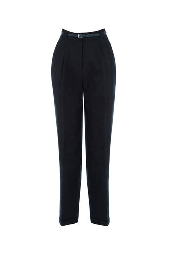 Oasis, BELTED PEG TROUSER Navy 0