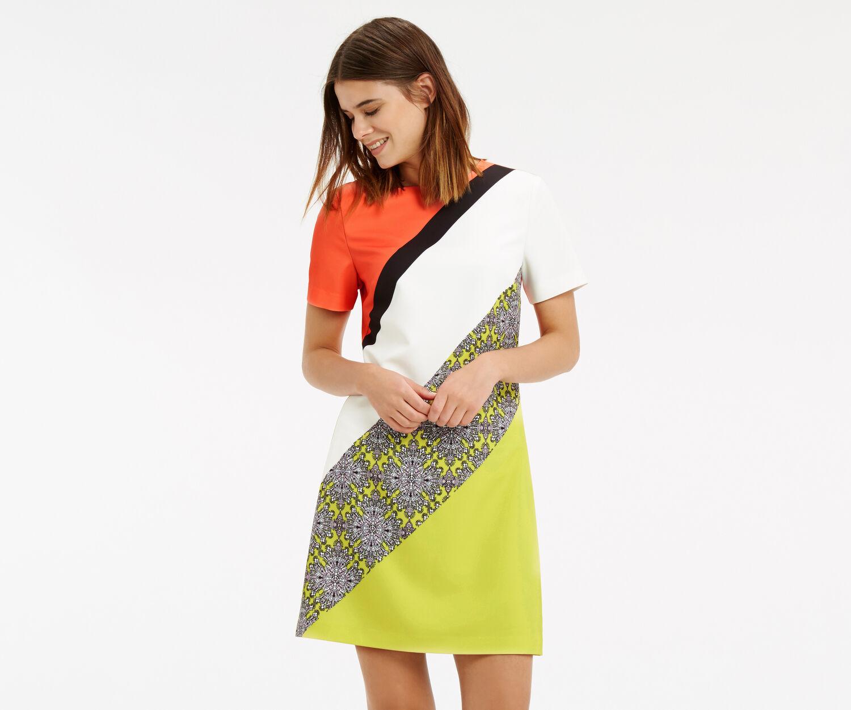 Oasis, Sintra Tile Stripe Dress Multi 1