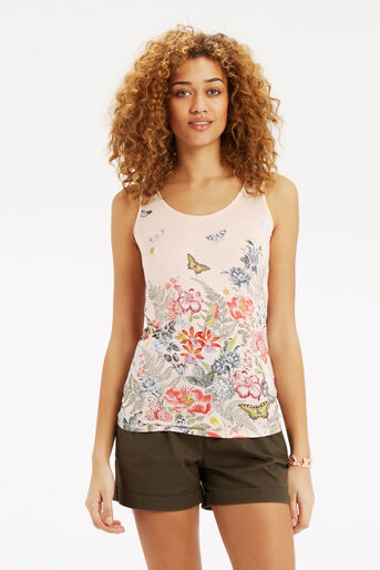 Oasis, Botanical Placement Vest Off White 1