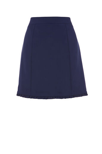 Oasis, FRILL DETAIL SMART SKIRT Navy 0
