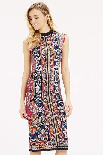 Oasis, Paisley Tube Dress Multi 1