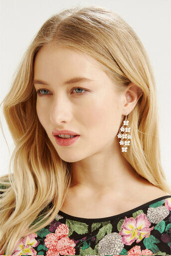 Oasis, Flower Cascade Drop Earring Cream 1