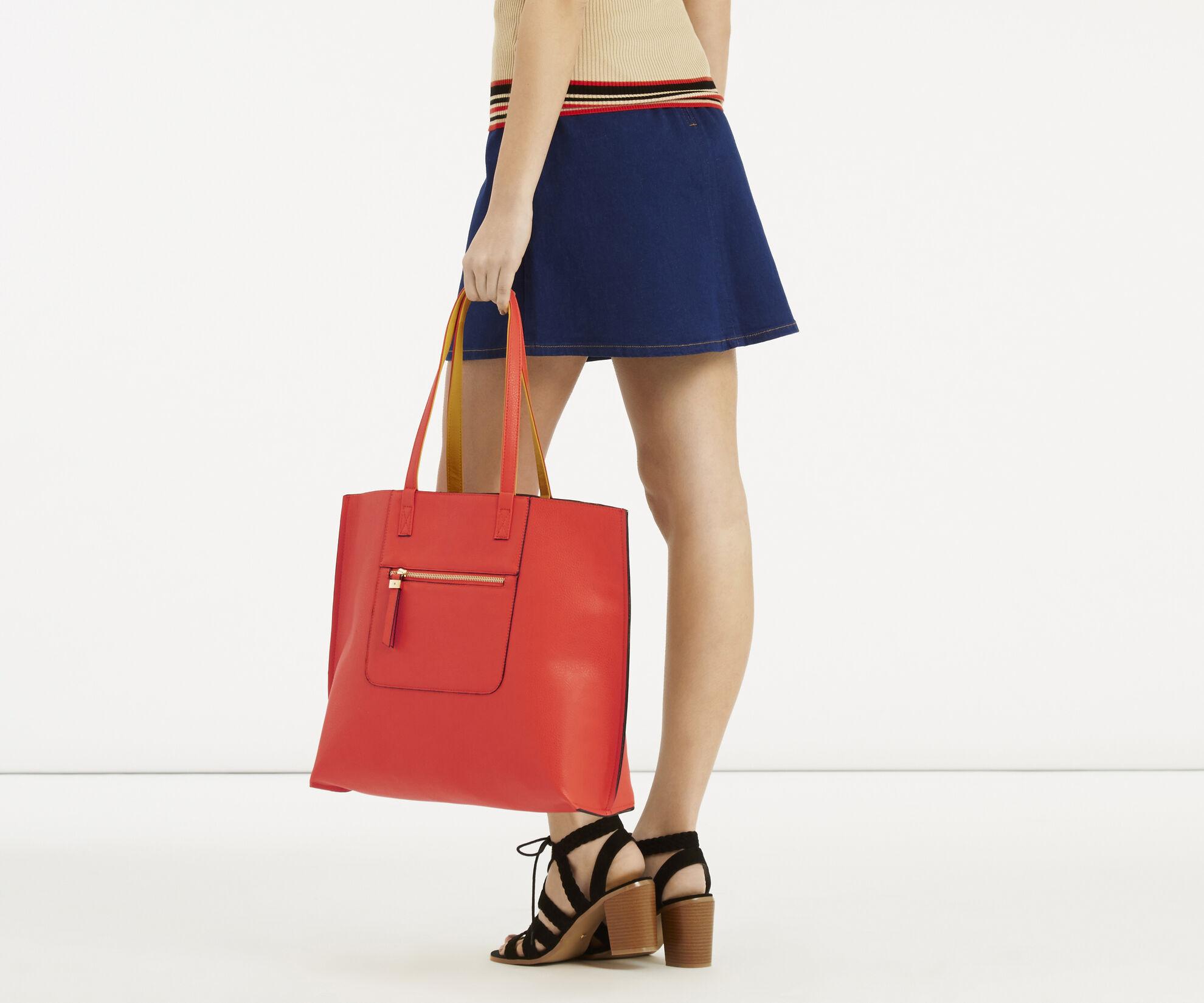Oasis, Renee Reversible Shopper Multi Orange 1