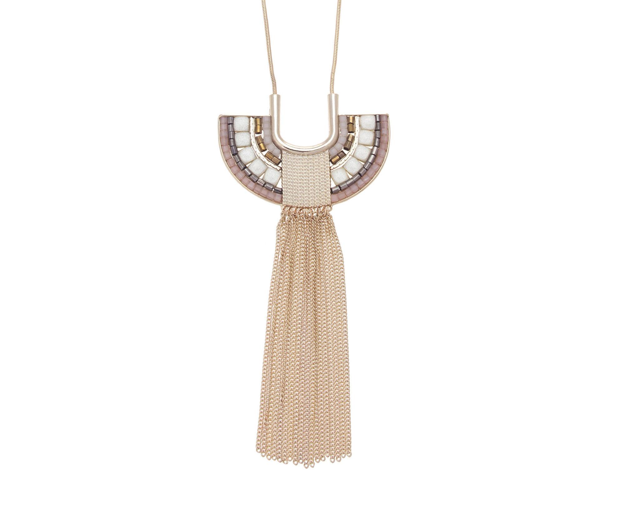 Oasis, Mosaic Pendant Necklace Multi 1