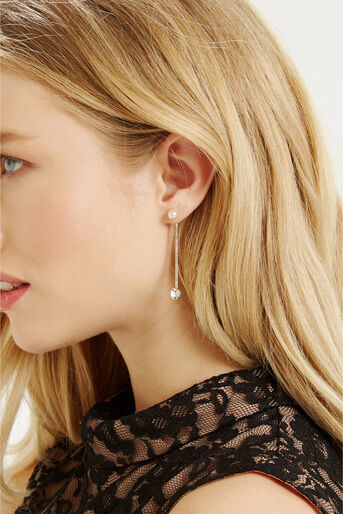 Oasis, LUXE CHAIN DROP EARRING Cream 1
