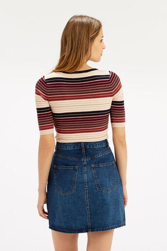 Oasis, Sparkle stripe knit top Multi 3
