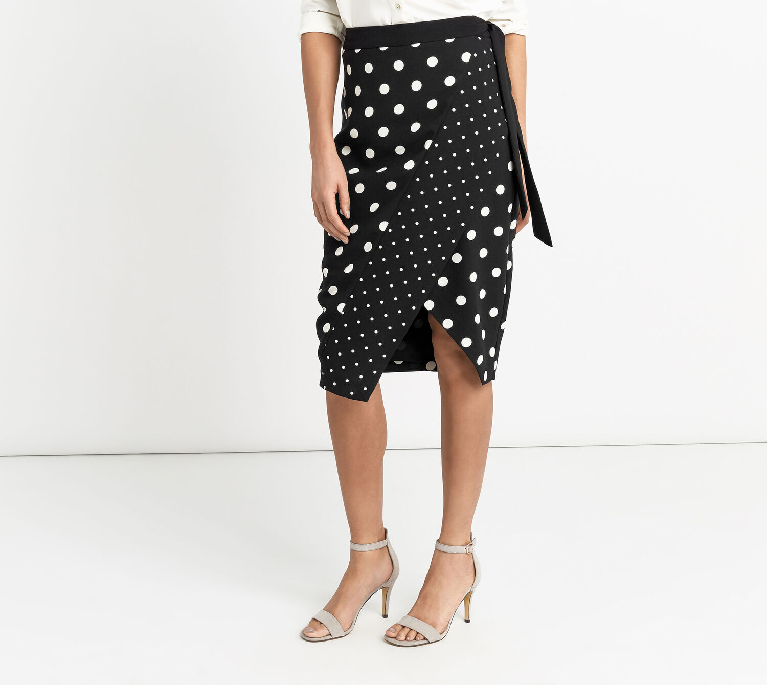 Oasis, SPOT PRINT WRAP SKIRT Multi 1