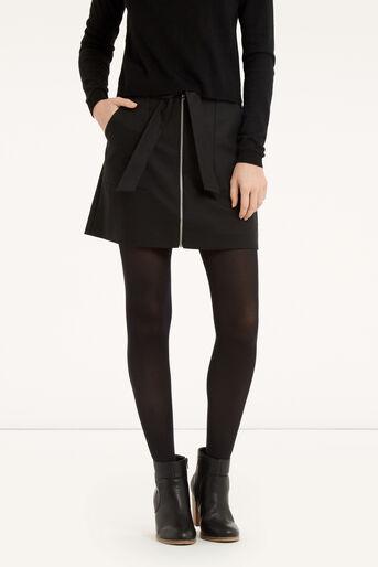 Oasis, Zip A-Line Marley Skirt Black 1