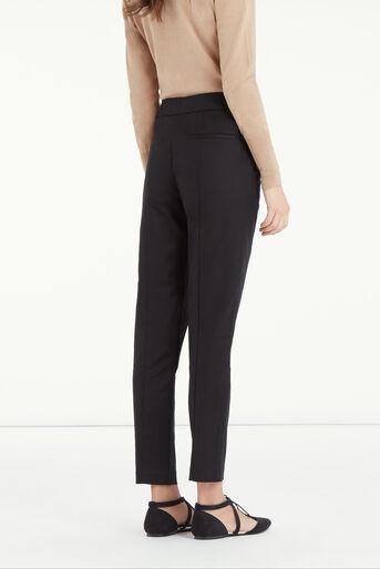 Oasis, Compact Cotton Trouser Black 3