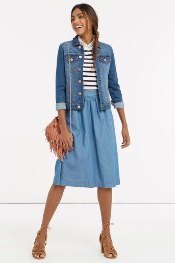 Oasis, Stripe embellished collar knit Multi 2
