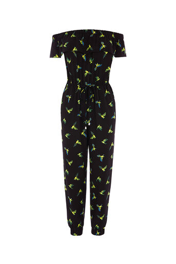 Oasis, TAJO BIRD BANDEAU JUMPSUIT Multi Black 0