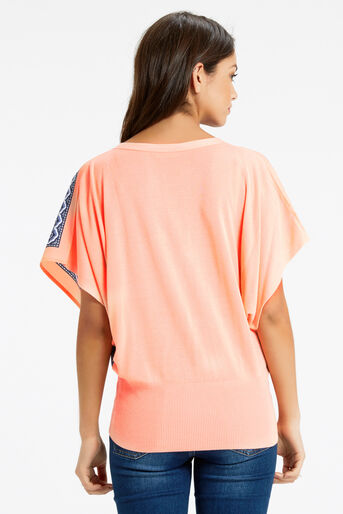 Oasis, Paisley Front Top Coral 3