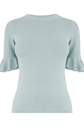 Oasis, FLARE CUFF KNIT Teal Green 0