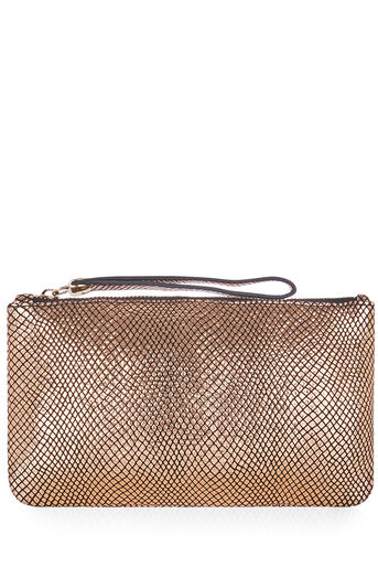 Oasis, LEATHER LILY SNAKE PURSE Rose Gold 0