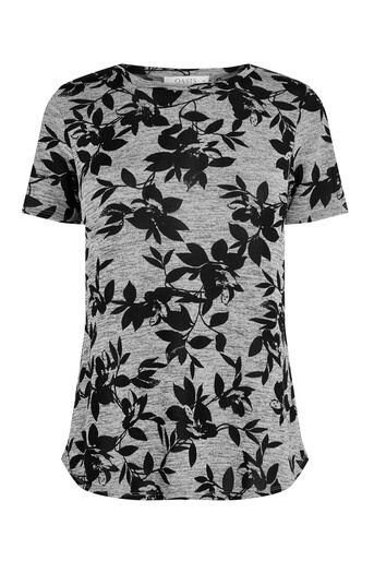 Oasis, SHADOW PRINT TEE Multi Grey 0