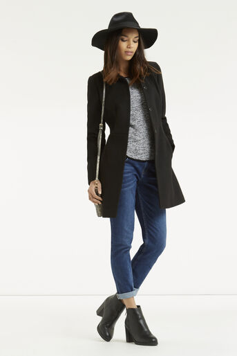 Oasis, Tweed Patched Sweater Black 2