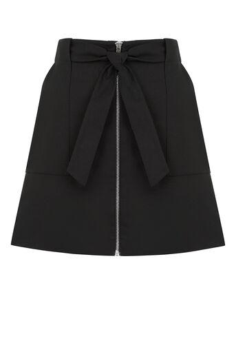 Oasis, Zip A-Line Marley Skirt Black 0