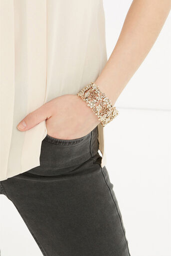 Oasis, Stretchy Flower Cuff Gold 1