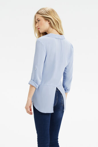 Oasis, Weekend Viscose Shirt Mid Blue 3