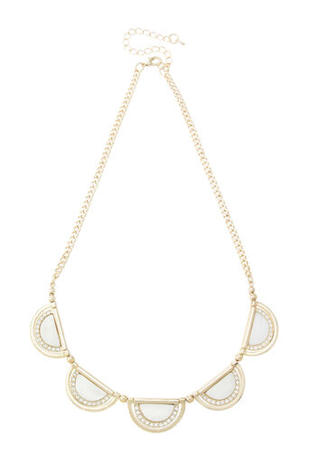 Oasis, SHELL AND SPARKLE NECKLACE Cream 0