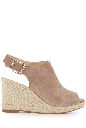 Oasis, LUCY SLINGBACK WEDGE Stone 0
