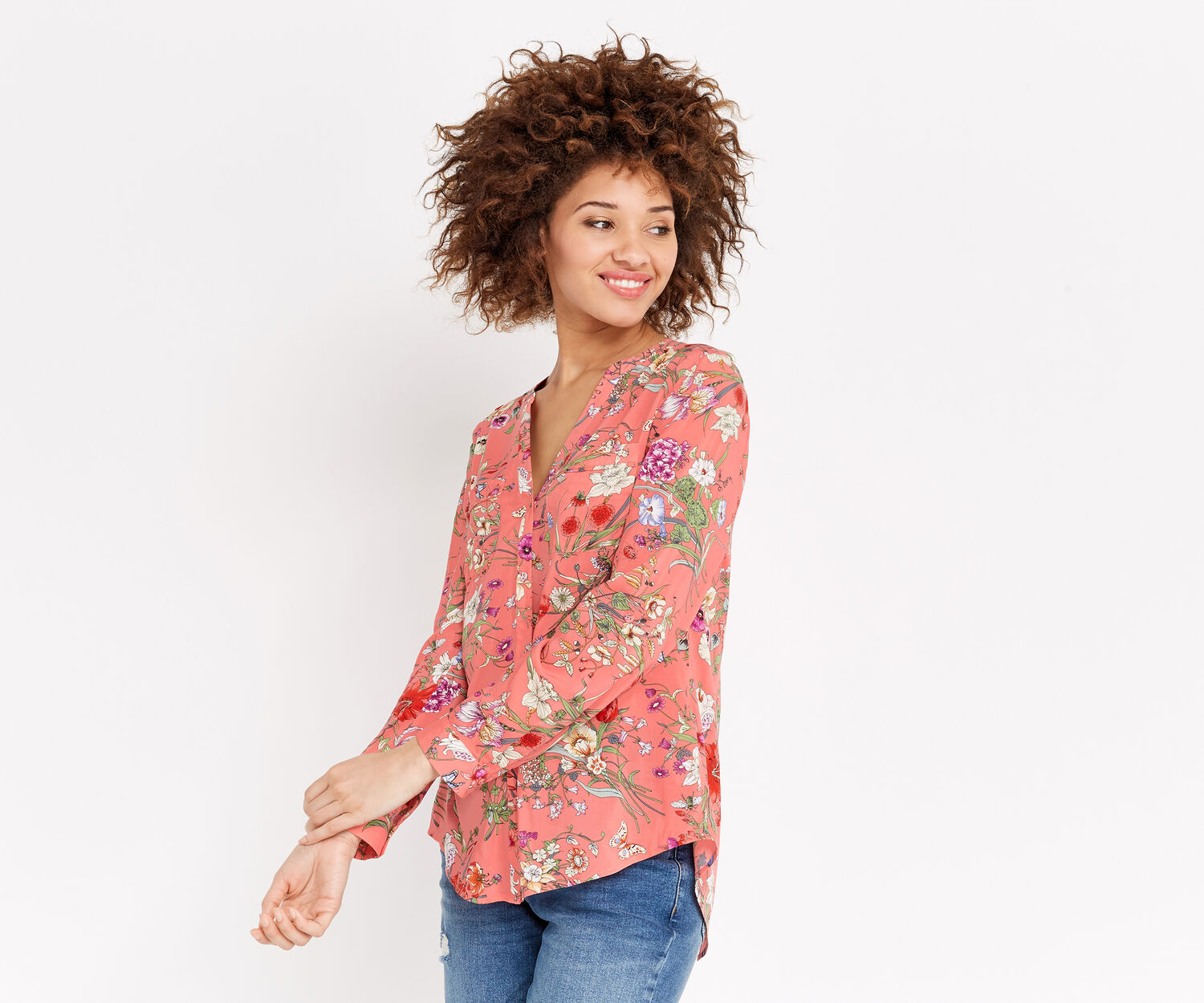 Oasis, SPRING BOTANICAL WRAP SHIRT Multi 1