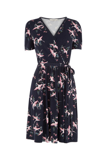 Oasis, CRANE WRAP DRESS Multi 0