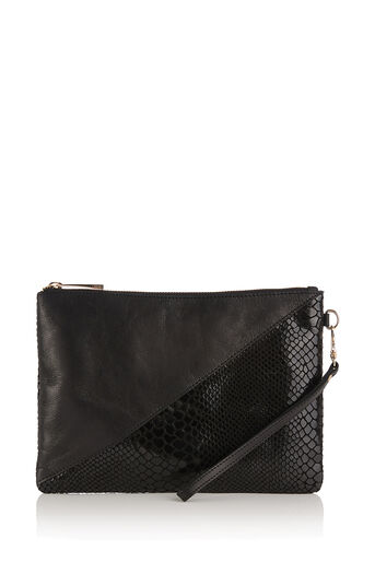 Oasis, FIFI ZIP CLUTCH Black 0