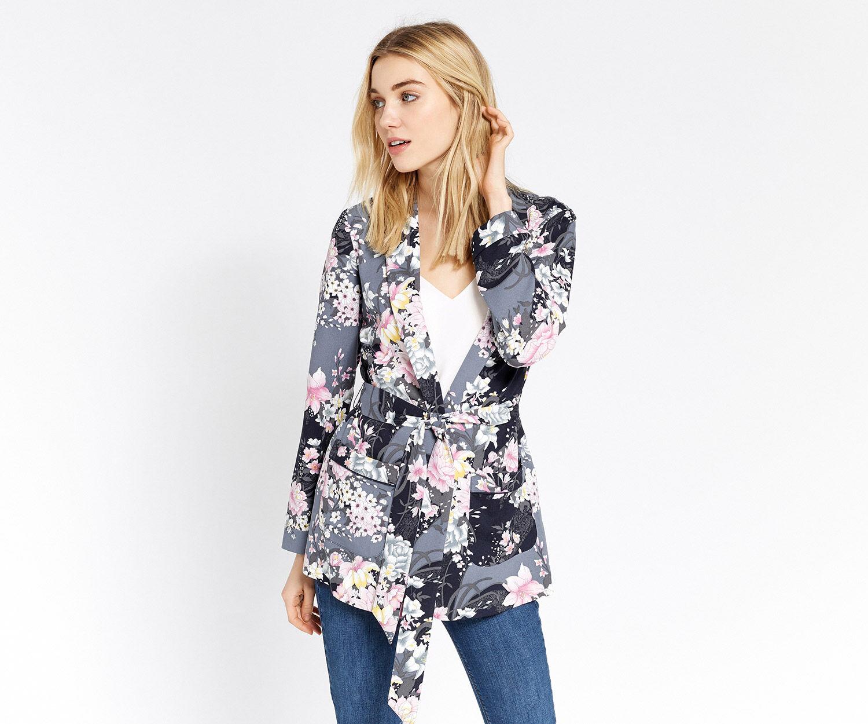 Oasis, Blazer doux à motif lotus Multicolore 1