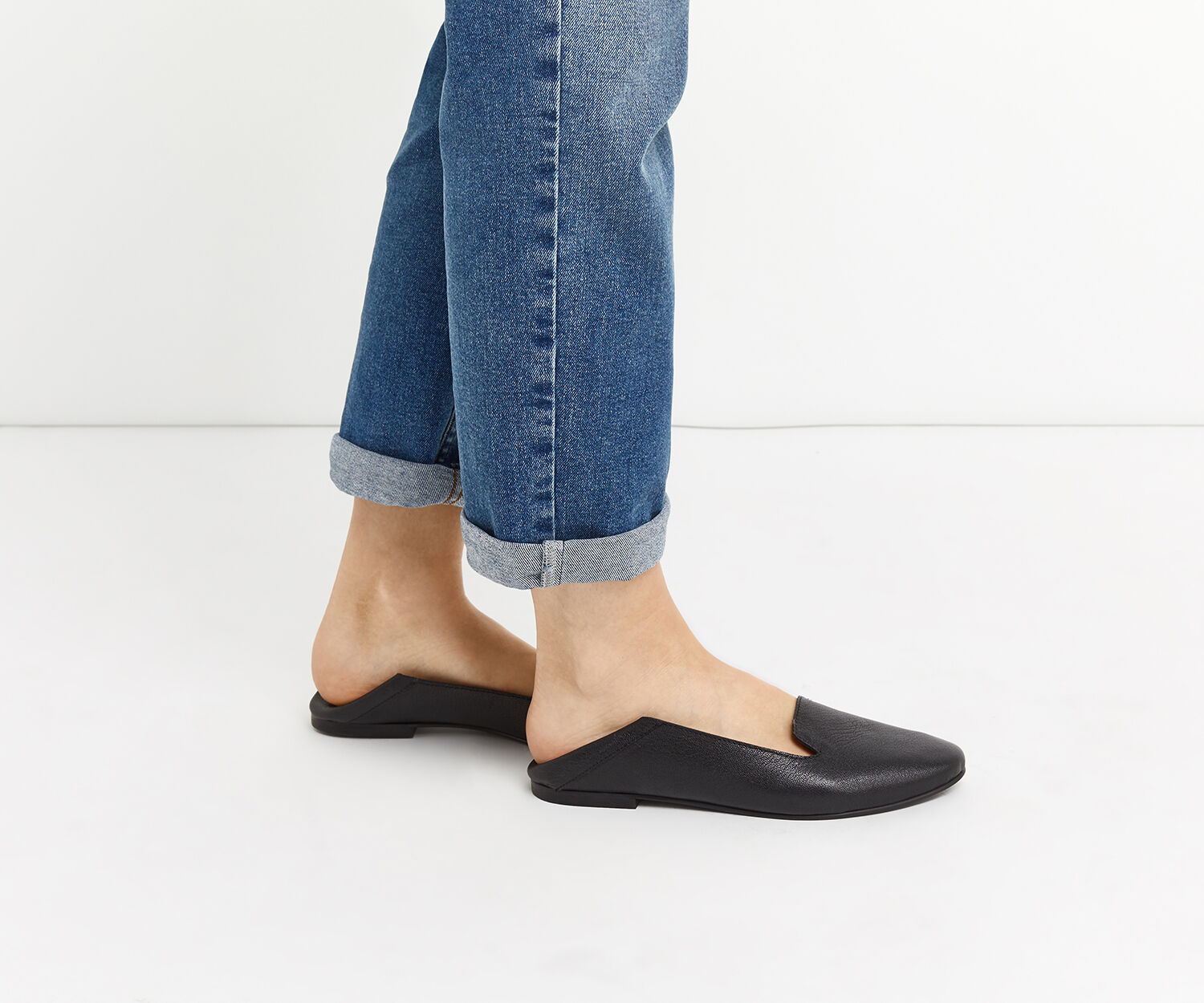 Oasis, LEATHER LILY SLIPPER Black 1