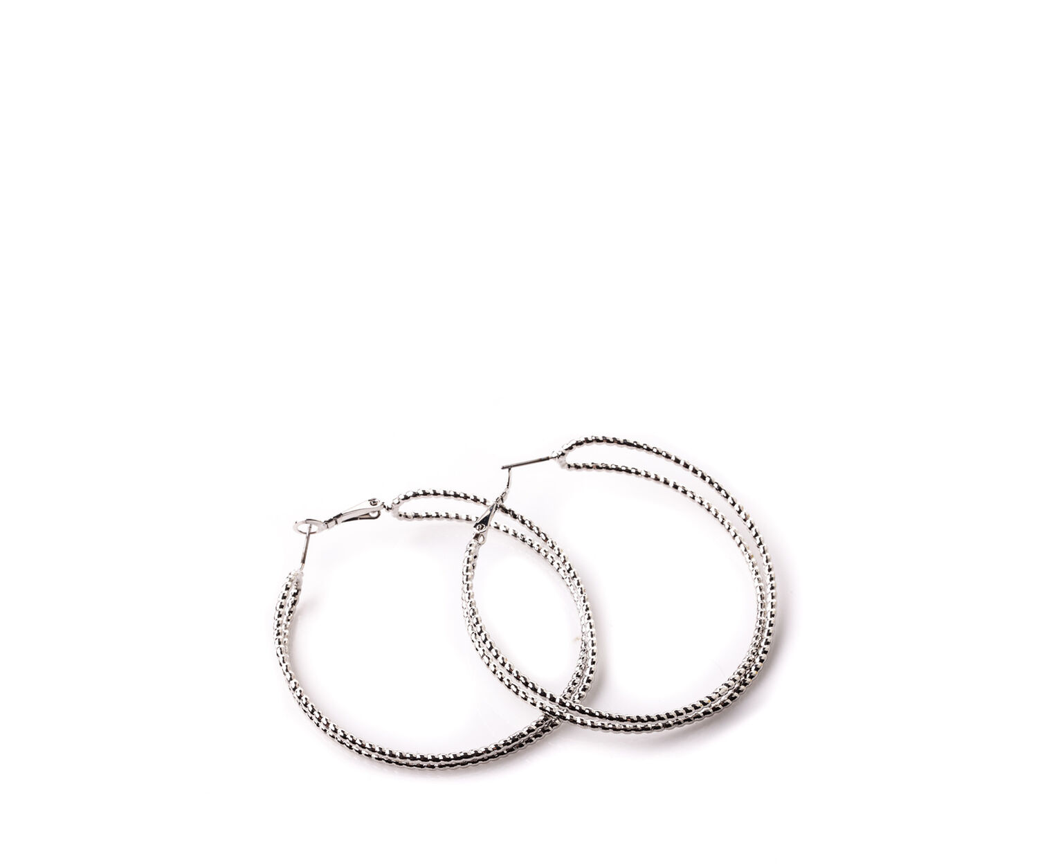 Oasis, DOUBLE TWIST HOOPS Silver 1