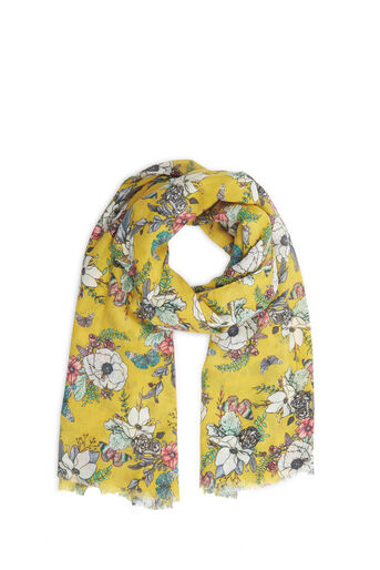 Oasis, FOREST PRINT SCARF Ochre 0
