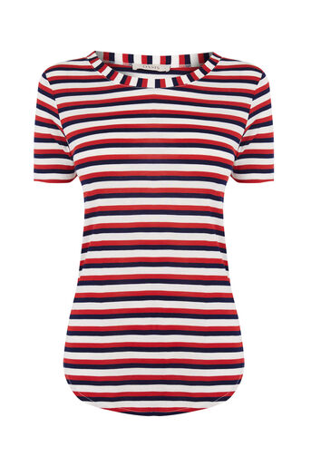 Oasis, MULTI STRIPE PERFECT TEE Multi 0