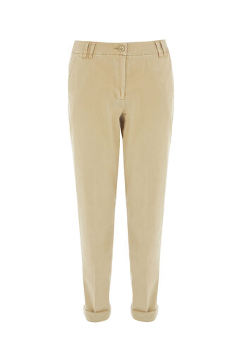 Oasis, LONGER LENGTH CHINO Mid Neutral 0